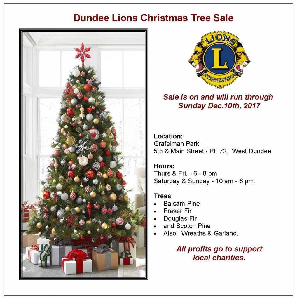 Christmas tree sale winter 2017