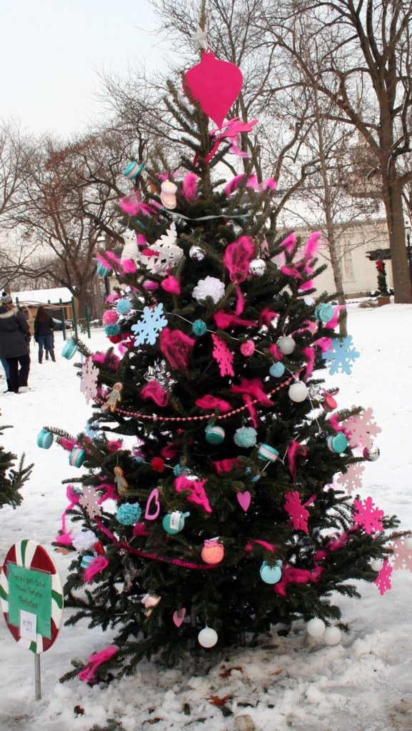 The winning tree decorated by one of the Boys and Girls Clubs