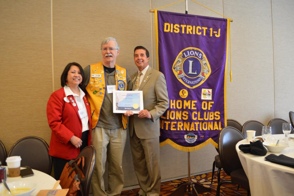 Jim McClung, past president of the Dundee Township Lions Club was awarded the International President's Certificate of Appreciation