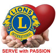 lions serve with passion logo